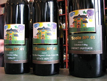 A collection of L'Ecole 41 wines from Washingt...