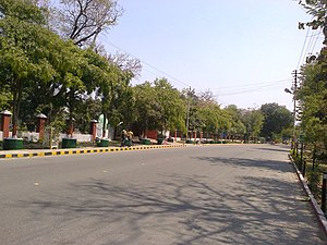 This is a view of the mall road in Meerut,Utta...