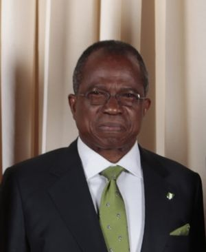 English: Ojo Maduekwe, C.F.R., Minister of For...