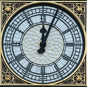 The Clock face on the Tower at the Palace of W...