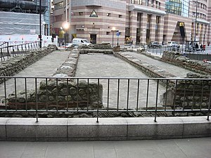 English: Remains of the Temple of Mithras Thes...