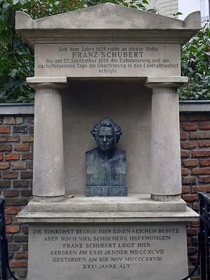 Deutsch: Ehemaliges Grab von Franz Schubert