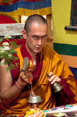 Lama Shenpen Rinpoche granting Tara empowermen...
