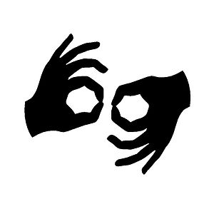 Sign Language Interpretation The symbol indica...
