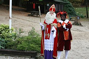 English: Sinterklaas en zwartepiet
