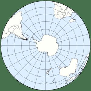 Southern Hemisphere of Earth (Lambert Azimutha...
