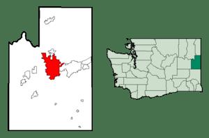 Spokane in Spokane County