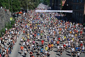 Deutsch: Start des Stockholmmarathons 2009
