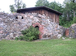 English: Ruins of the Vihti old church in Viht...