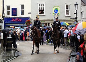 English: Wells High Street Members of Avon and...