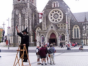 The Wizard of Christchurch, a well-known local...