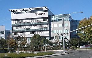 Headquarters of Yahoo! next to Mathilda Avenue...