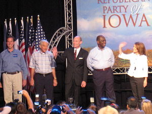 Republican Presidential candidates at the Ames...