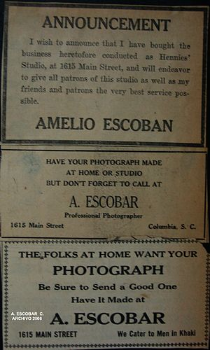 newspaper advertising, Lyles studio, 1915