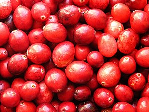 English: cranberries