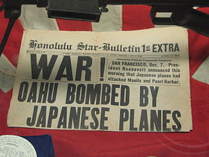 English: The front page of the Honolulu Star-B...