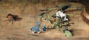 Jan Brueghel (I) - Bouquet of Flowers (detail)...