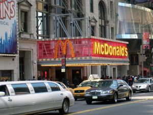 McDonalds on West 42nd Street in Times Square,...