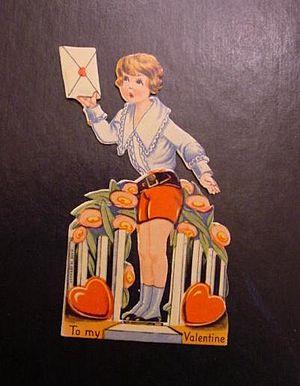 Scan of a Valentine greeting card circa 1920.