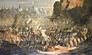 English: Mongols_and_Templars_attacking_Jerusa...