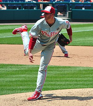 Roy Halladay of the Philadelphia Phillies pitc...