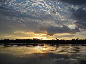 Izlazak Sunca iznad reke Kongo