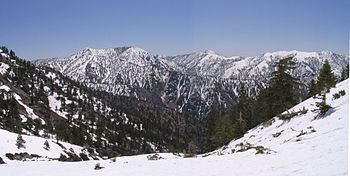 Summits in the eastern San Gabriel Mountains, ...
