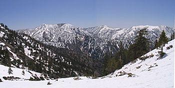 Summits in the eastern San Gabriel Mountains, ...
