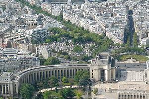 Palais de Chaillot and cimetière de Passy