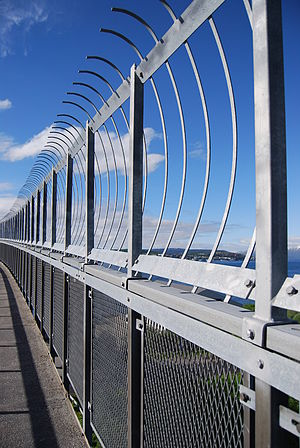 In 2005 a fence was added to Tromsøbrua becaus...