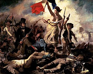 Romantic history painting. Commemorates the Fr...