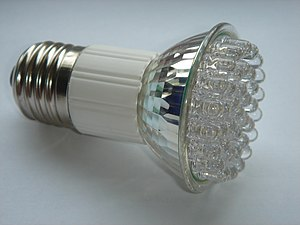 LED lamp with E27 Edison screw.