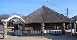 Flying Horse Carousel in Watch Hill, RI, USA. ...