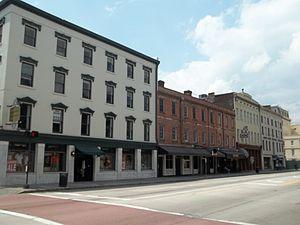 : Savannah Historic District: Buildings on Bay...