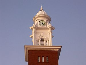 Clock tower on the Lee County Courthouse in Op...
