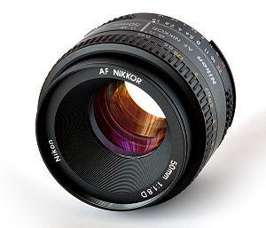 """This image shows a """"Nikon Nikkor AF 50mm/..."""