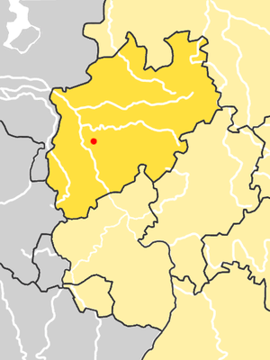 Location of Neander Valley, Germany. (The high...