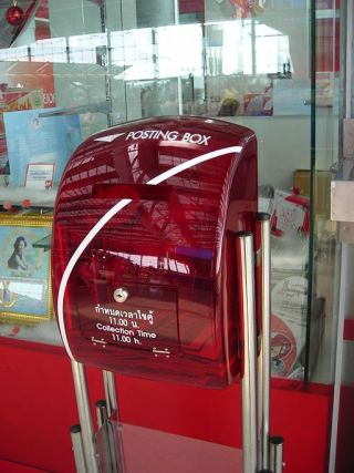 New transparent Mailbox of the Thailand Post