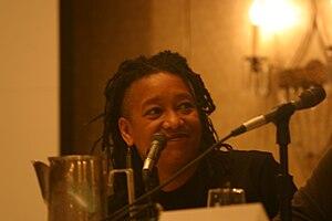 English: Pamela Z speaking at Third Coast Inte...