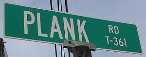 Plank Road sign in Piatt Township, Lycoming Co...