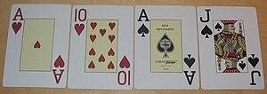 Beispiel für eine Omaha Hold'em Hand eines Spi...