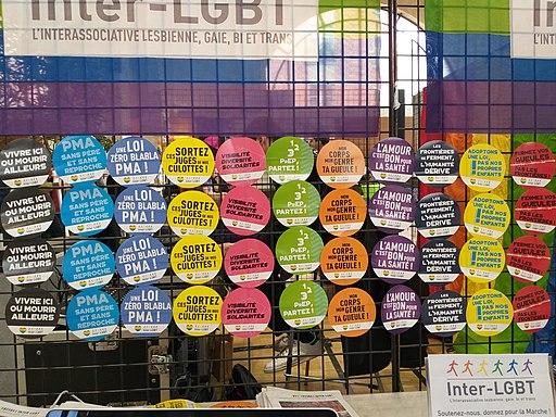 Printemps des assoces 2019 - Inter-LGBT - badges