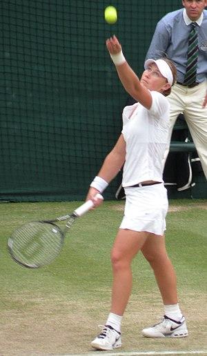 Sam Stosur Playing at Wimbledon 2008
