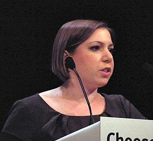 English: Sarah Teather MP addressing a Liberal...