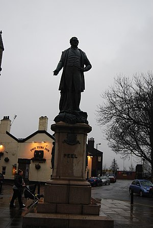 Sir Robert Peel This statue of Sir Robert Peel...