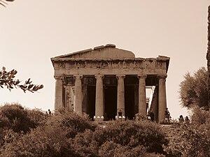 English: Temple of Hephaestus (Theseion), Anci...