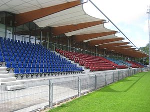 English: The West stand of the Tata Steel Stadium.
