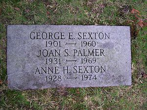 English: Grave of Anne Sexton, located at Fore...