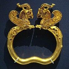 El brazalete de Oxus. Periodo Aquemenide en Persia.