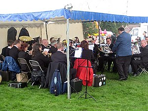 English: Brass Band, 109th Poynton Show Music ...